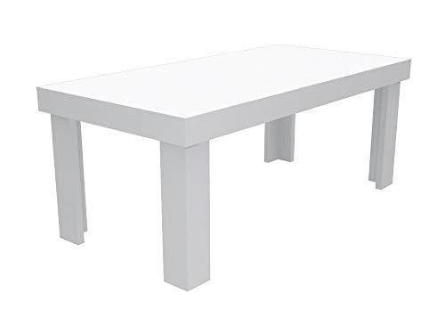 Legno Bianco Frassinato : Ve.ca italy tavolo da cucina inka in legno melaminico 200x100x80 cm