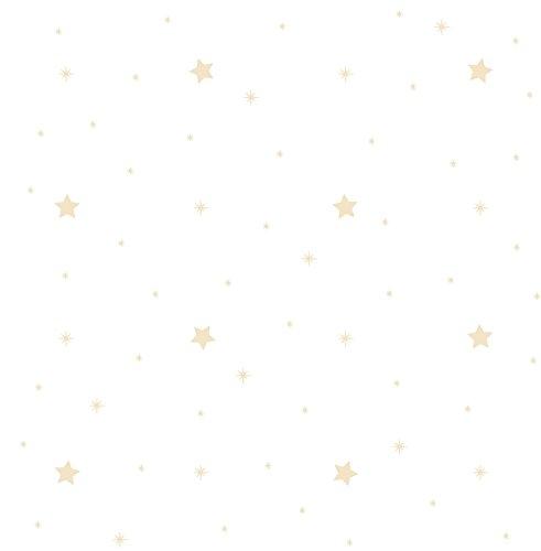 Dandino ST3028-3 Papel Pintado con Diseño Infantil Estrellas, Gris, 60x18x18 cm