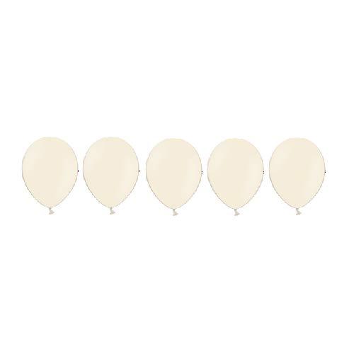 DM Balloon Company Luftballons in Pastell Ivory Creme für die Dekoration zur Hochzeit, Geburtstag, Taufe, Sylvester-Party, 25 St. im Set (Dekoration Für Die Taufe)