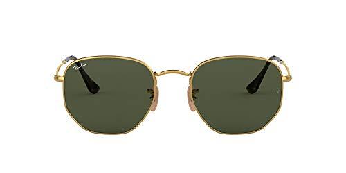 Ray-Ban Herren Rb 3548n Sonnenbrille, Gold/Green, 54