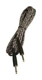 Adams Vintage Rock (German Rock Noiseless Instrumentenkabel Vintage Tweed 6m schwarz-weiß)