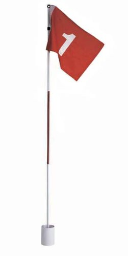 Silverline Golf Flag Set, Golffahne mit Golfloch