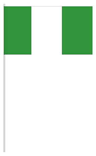 partydiscount24 10 x Papierfähnchen Nigeria