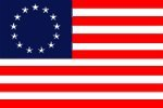 Betsy Ross Flagge 30,5x 45,7cm Nylon (gefärbt) -