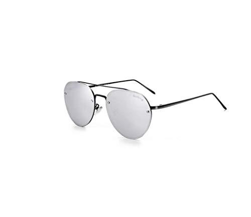 ZTMN Polarisierte Sonnenbrille Männer und Frauen runden Metallrahmen Fahren Travel Essentials (Farbe: Silber)
