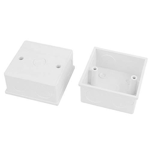 Pvc-switch Box (ZCHXD 2 Pcs 86mm x 86mm x 40mm Square Design PVC Switch Pattress Back Box)