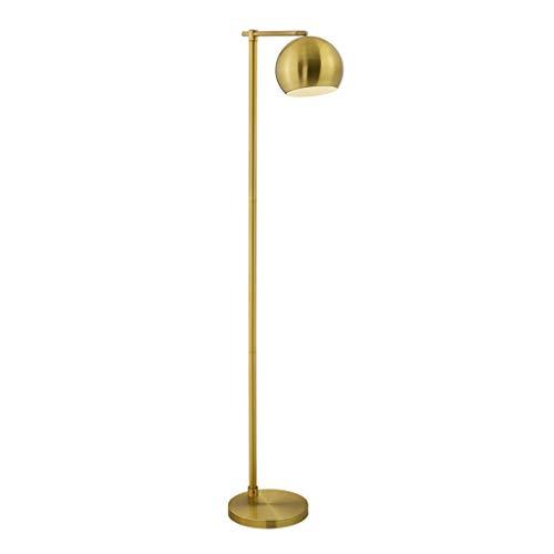 Stehlampe, Nordic Wohnzimmer Stehlampe/Schlafzimmer Lesen schmiedeeiserne LED-Stehlampe. (Farbe : Bronze) -