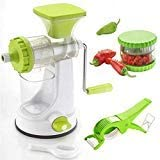NEXT ON Fruit Vegetable Hand Juicer, Multi Crusher And Veg Cutter Combo (Green)