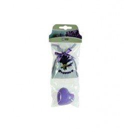 MCTISSUS - Mini sachet de lavande brodé Provence et 1 savon coeur lavande
