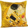 Lounge Seat Cover (Cushion Throw Pillow Gustav Klimt The Kiss No.1 - SILK, Decorative Cover and Cushion, High Quality - Picture, Artwork, Painting, Fine Art - For Bed, Chair, Sofa, Seat, Bedroom, Living Room, Lounge, Kitchen, House, Home, Conservatory, Office, Work, 55x55cm by Artis Vivendi)