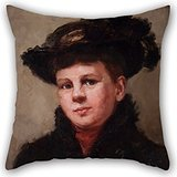 Alphadecor 20 X 20 Inches / 50 By 50 Cm Oil Painting Mary Louis McLaughlin - Clara Chipman Newton (1848-1936) Pillowcase ,double Sides Ornament And Gift To Family,girls,bar,study Room,home Theater,w