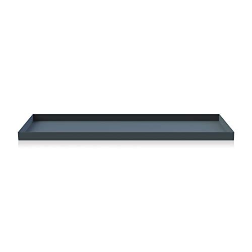 Cooee Design Tray Tablett, Edelstahl, Midnight Blue, L : 50, B: 18, H: 2 cm Design Tray