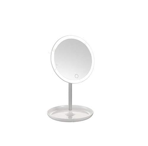 Preisvergleich Produktbild Spiegellampen, Led Desktop Spiegel Scheinwerfer Make-Up Selbstauslöser Füllen Licht Schminktisch Touch Sensor Stufenlos Dimmen Usb-Aufladung,  3W6000-6500K,  Rundes Weißes Licht