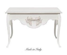 Tavolino lui e lei stile vintage con fiocco centrale disponibile in diverse rifiniture L'ARTE DI NACCHI 4943/1SH