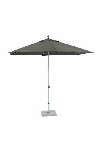 Kettler Sonnenschirm Easy Push – runder Sonnenschirm 3 Meter Durchmesser – witterungsbeständiger Balkonschirm mit manueller Neigungsverstellung – bietet UV-Schutz 50+