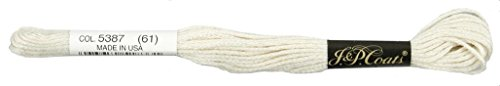Manteaux Crochet 6-Strand Fil à Broder, 8 m, crème, Lot de 24