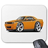 rectangle en caoutchouc antidérapant Tapis de souris 2009–11 Challenger RT Orange-black Car Mouse Pad