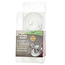 Tommee Tippee 2-pack Closer to Nature Slow Flow Nipples - 0m Kids, Infant, Child, Baby Products bébé, nourrisson, enfant, jouet