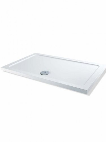 Bathroom Supplies 1700x800mm Tray + 1200mm Wetroom Glass Walk In Shower Door + Free Waste