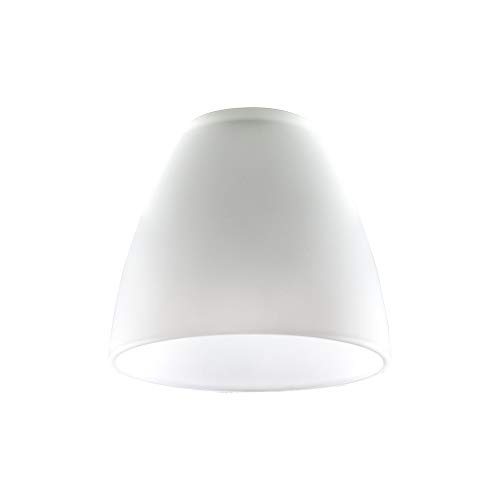 MiniSun – 3er Set Ersatzlampenschirme aus weißem Milchglas in Kuppelform – für Hänge- und Pendelleuchte -