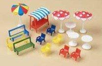 Auhagen 42.569,0 - bancos, sillas, mesas, sombrillas, coloridos