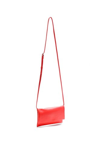 Pretty Nana Donna Made In Italy Clutch/ Tracolla/ Handbags Pelle Lily 730 Rosso