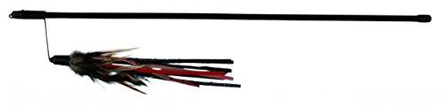 Trixie Spielangel mit Lederbändchen und Feder, 50 cm