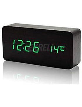 Uhr LED-Holz