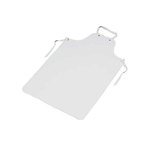 Behrend Mehrweg-Schürze, Schürze, Kleidungsschutz, Kittel, PVC, handwaschbar, 120 cm, weiß -
