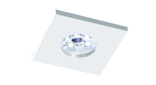 Bpm Lighting - Foco Empotrable IP65 Cuadrado Aluminio y Cristal, Color Blanco