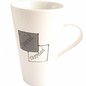 Mug à latte Special beau-père (Gris/Blanc)
