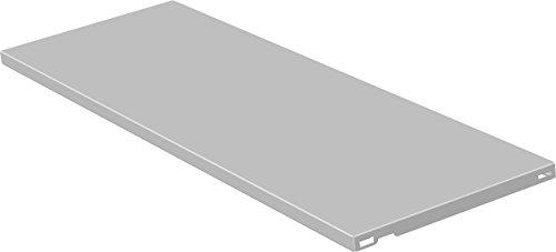 Element System 10700-00020 Stahlfachboden Regalboden / 2 Stück/B x T = 80 x 30 cm/weiß/für Wandschiene und Pro-Regalträger,