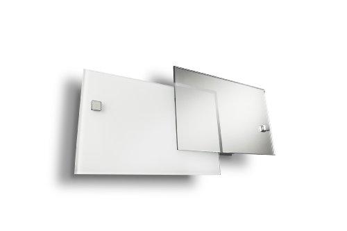 Philips cordate lampada da parete, 2 vetri sovrapposti, cromato, 31 cm