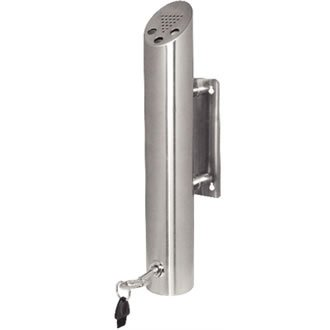 Bolero Cylinder Wall Mounted Ashtray Stainless Steel Cigarette Smoking Holder