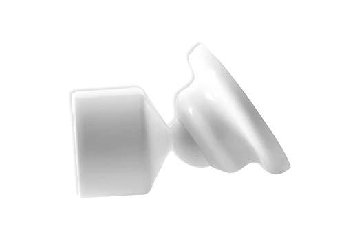 Prodecoshop Schrägwandhalter, Schrägwandadapter, für Duschvorhangstangen, Gardinenstangen, Vorhangstangen an Dachschrägen (für Stangen Ø 28 mm)