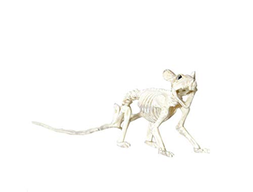 LHFJ Halloween-Dekorationen Hallowee Arty Liefert Skelett-Maus-Fledermaus Für Indoor-Outdoor-Haus Dekoration,Natural,9Cm