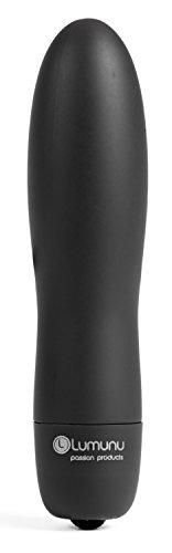 Deluxe Minivibrator Vibroprinz, kleiner und wasserfester Bullet Vibrator mit 10 Vibrationsprogrammen in edler Metall Geschenkbox, schwarz