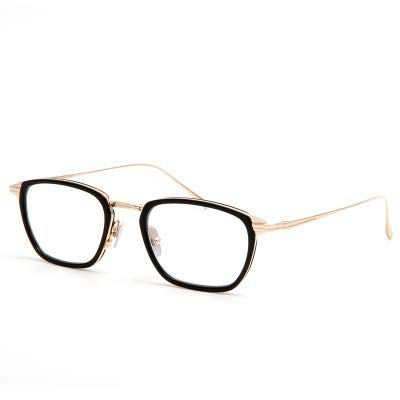 Linshenyoulu Wild Metal Thin-Leg Brillengestell Fashion Wild Temperament Unisex Flat Mirror Anpassbare Brillen