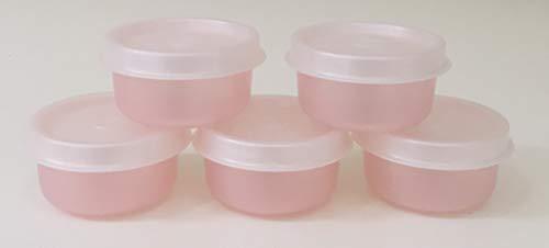 TUPPERWARE Smidgets Set 5 kleine Schüssel Box Mini Behälter Starlight Blush Pink Tupperware Cannister