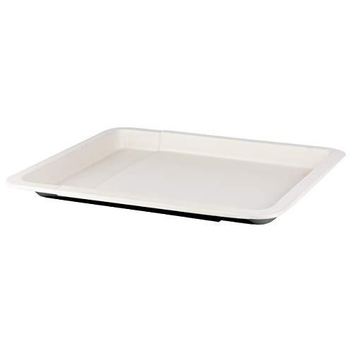 Grizzly Backblech ausziehbar 33-52 cm keramikbeschichtet antihaft Ofenblech passend für alle Backöfen Kuchenblech größenverstellbar Pizzablech zum Ausziehen schwarz Creme Made in Germany