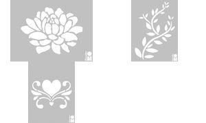 Schablone 3D Leaves MARABU LIVING 0280 00 004 4007751352668