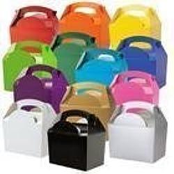 MustBeBonkers Lot de 15 boîtes en carton uni pour repas fête ou anniversaire 152 x 100 x 102 mm