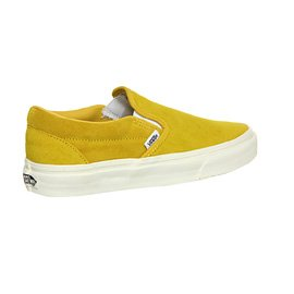 Vans U Classic Slip-on Overwashed, Unisex-Erwachsene Sneakers Vintage Suede Sulphur Yellow