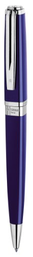 waterman-exception-slim-blue-lacquer-silver-trim-ball-pen-gift-boxed