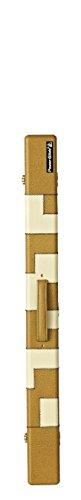 Powerglide Billardqueue, mit PATCHWORK-Hülle, 2 Stück, braun / weiß