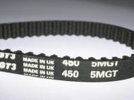 Courroie pour bétonnière Renforcée équivalente à 450-5MR09, 450 9 HSN Caoutchouc 90 dents largeur 9mm