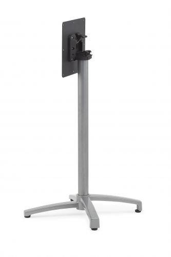 Tischgestell King 4-Fuß-Stehtischgestell mit Klappsystem, Aluminium Silber matt