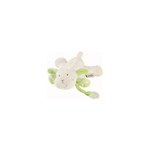 Babysun - Doudou attache sucette mouton vert
