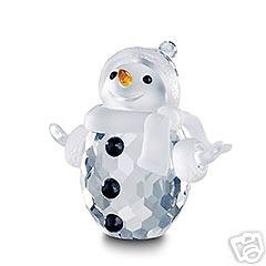Statuina in cristallo swarovski # 250229, pupazzo di neve