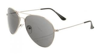 Eyewear World Boys, Girls, Kids, Childrens, Silver Metal Sunglasses, Black Lens